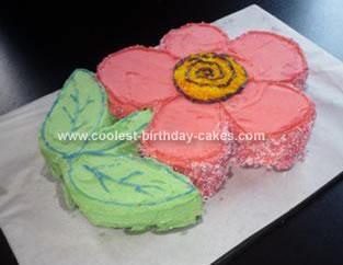 Sweet Homemade Flower Cake