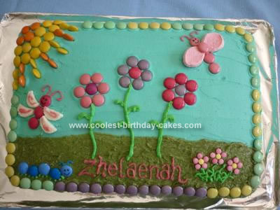 Homemade  Flower Garden Cake