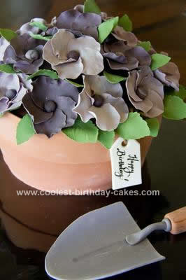 Homemade Flower Pot Cake
