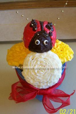 Homemade Flower Pot with Ladybug Cake
