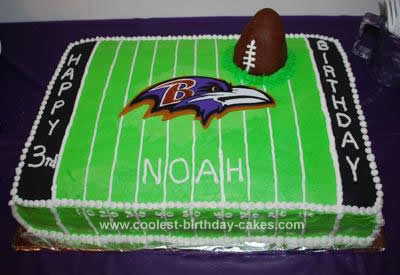 Enjoyable Coolest Homemade Football Birthday Cake A Raven Fan Personalised Birthday Cards Paralily Jamesorg