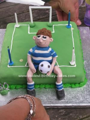 Homemade Football Birthday Cake
