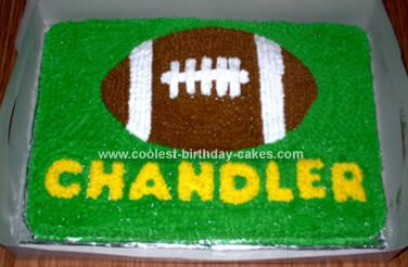 Incredible Cute Homemade Football Birthday Cake Personalised Birthday Cards Paralily Jamesorg