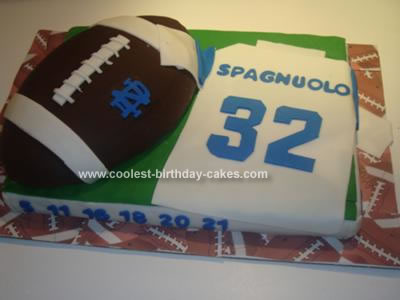 Peachy Coolest Homemade Football Birthday Cake For My Boyfriend Personalised Birthday Cards Sponlily Jamesorg
