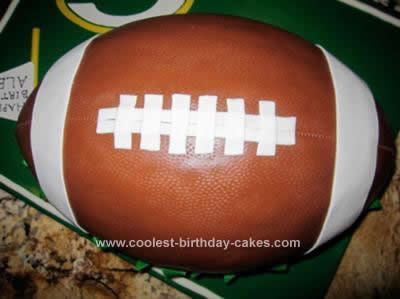 Homemade Football Birthday Cake Design