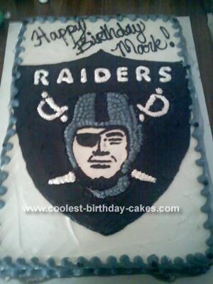 Strange Cool Homemade Raider Fans Football Cake Funny Birthday Cards Online Inifofree Goldxyz