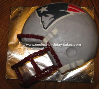Crystal's Patriot Football  Cake
