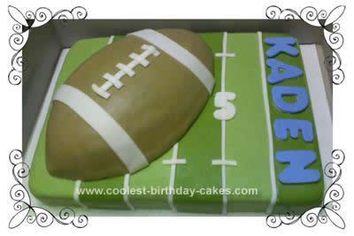 Homemade Football Cake Idea