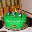 Homemade Football Field Cake