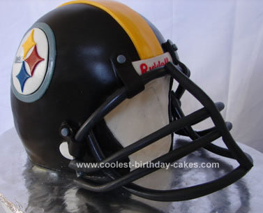 Homemade Football Helmet Cake