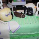 Homemade Football Team Birthday Cake