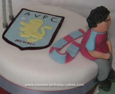 Homemade Football Team Cake
