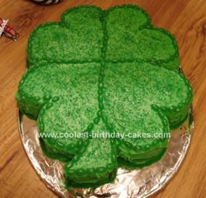 Homemade Four Leafed Clover Cake