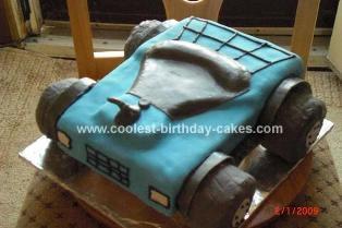 Homemade Four Wheeler Cake
