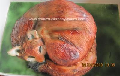 Homemade Fox Cake