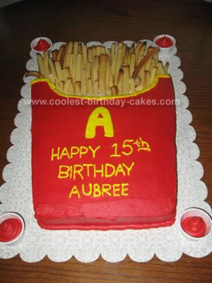 Groovy Coolest French Fries Cake 93 Funny Birthday Cards Online Overcheapnameinfo