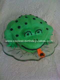 Homemade Frog Birthday Cake