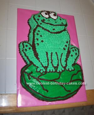 Homemade Frog Birthday Cake