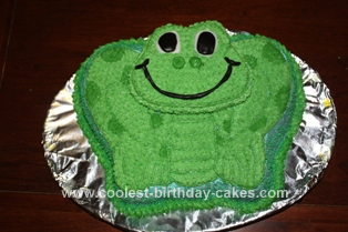 Homemade Frog Birthday Cake Idea