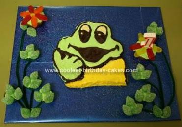 Homemade Freddo Frog Cake