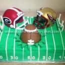 Homemade GA vs. FSU Football Birthday Cake