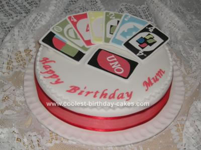 Homemade Game of Uno Cake