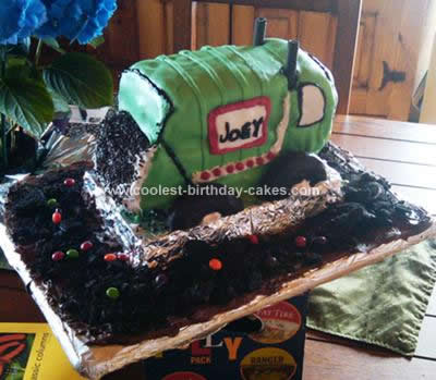 Homemade Garbage Truck Birthday Cake