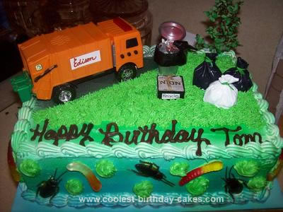 Magnificent Coolest Homemade Garbage Truck Cakes Funny Birthday Cards Online Elaedamsfinfo