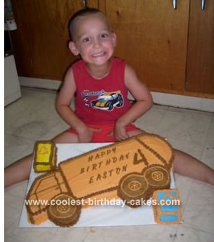 Easton and his Garbage Truck Cake