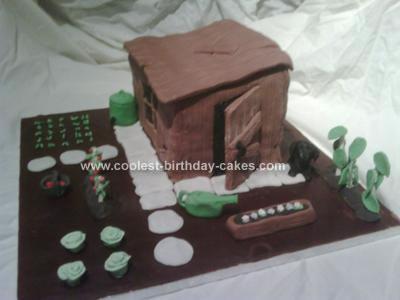 Homemade Garden Allotment Birthday Cake