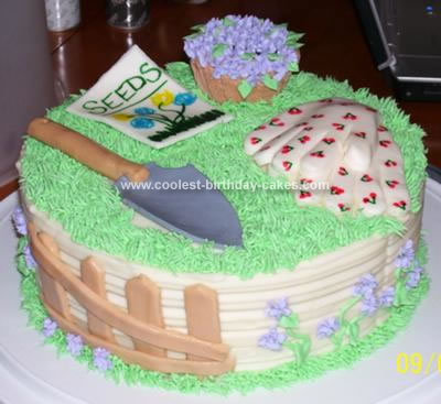 Peachy Coolest Garden Birthday Cake Funny Birthday Cards Online Overcheapnameinfo