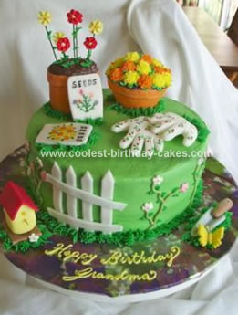 Homemade Garden Lovers Cake
