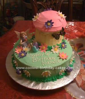 Homemade Garden Fairy Birthday Cake