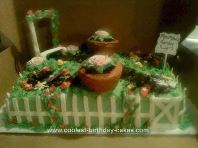 Homemade Garden Lover's Birthday Cake