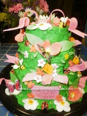 Homemade Garden Party Cake