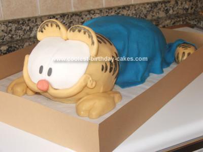 Homemade Garfield Birthday Cake