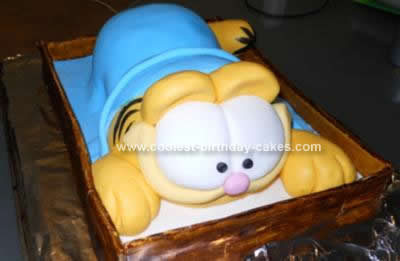 Homemade Garfield Cake Design