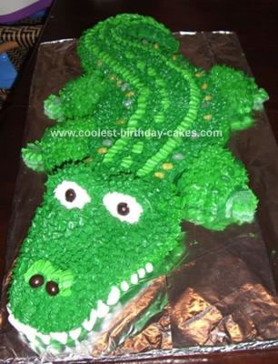 Pleasant Coolest Gator Birthday Cake Personalised Birthday Cards Veneteletsinfo