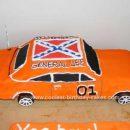 Homemade General Lee Car Cake