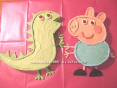 Homemade George and Mr Dinosaur Cakes