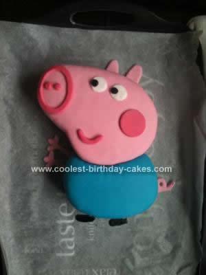 Homemade George Pig Cake Idea