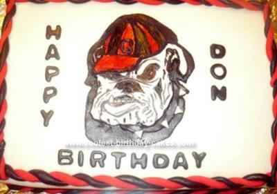 Terrific Coolest Georgia Bulldog Cake Funny Birthday Cards Online Elaedamsfinfo
