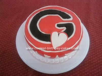 Homemade Georgia Emblem Cake