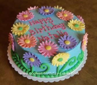 Excellent Coolest Gerber Daisy Birthday Cake Funny Birthday Cards Online Elaedamsfinfo