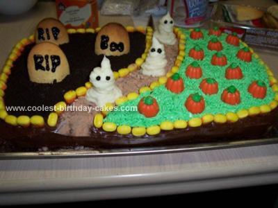 Homemade Ghosts Cake