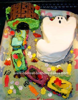 Ghost Train Cake