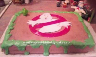 Homemade Ghostbusters Birthday Cake