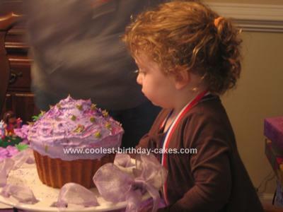 Homemade Giant Cupcake