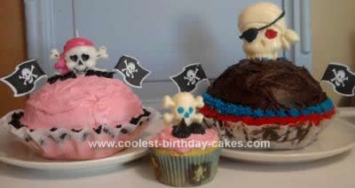 Cool Homemade Giant Pirate Cupcakes