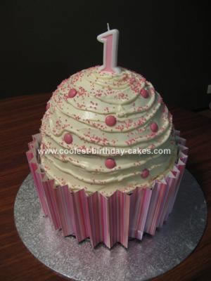 Coolest Giant Cupcake Cake